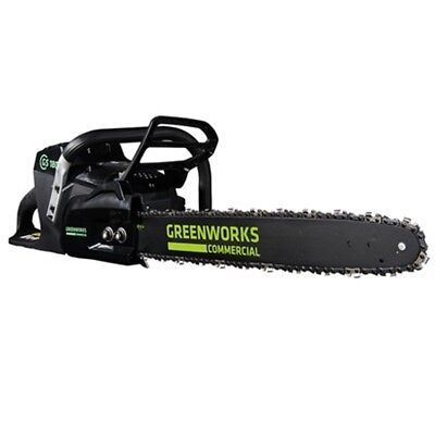 Greenworks Commercial 82v Chainsaw Cordless Lithium Ion 5Ah Battery & Charger