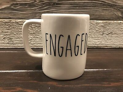 "Rae Dunn Inspired Vinyl Decal ""Engaged"" Farmhouse Coffee"