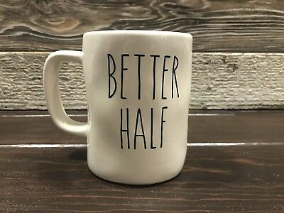 "Rae Dunn Inspired Vinyl Decal ""Better Half"" Farmhouse Coffee"