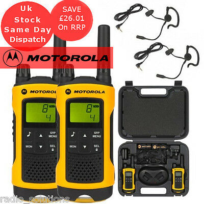 Motorola TLKR T80 Extreme Walkie Talkie All Weather Two Way Radios Twin Pack