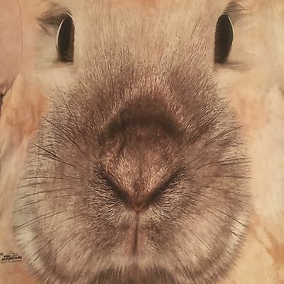 cute BUNNY RABBIT BIG FACE t shirt by the MOUNTAIN - NEW NWOT - (M)
