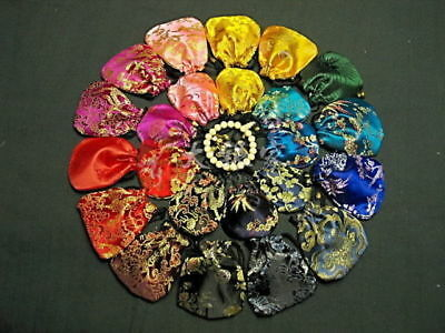 100pcs Chinese Handmade Classic Silk Jewellery Pouch/Coin Purse Gift Bag