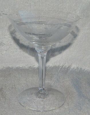 Vintage Heisey Crystal Glass Tall Sherbert Champagn Etched Pied Piper Wabash #E