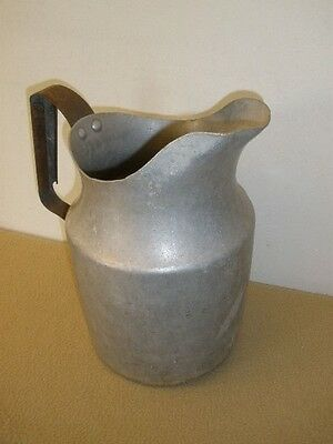 """Large Vintage Aluminum Pitcher with Steel Handle - 11"""" - Display Only"""