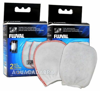 Fluval FX Gravel Vac Bags Fine & Super Fine x2 Packs Aquarium Vacuum