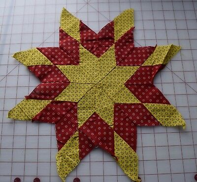 1 1870-80's Star quilt block, from Pennsylvania, beautiful and bright!