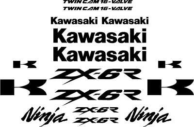 ZX6R ZX 6R Kawasaki decals motorcycle stickers Colour Choice