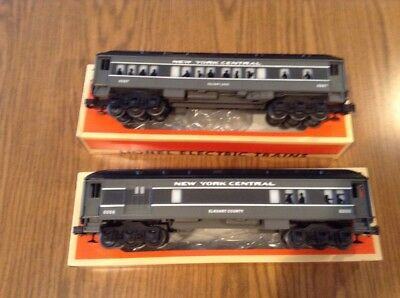 LIONEL NEW YORK CENTRAL COMBO CAR 6-16066 and PASSENGER CAR 6-16067
