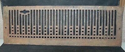 "Vintage Antique Ornate Cast Iron Grate 24"" Long By 8"" Tall No 969 24 (F2)"