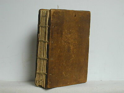 Antique Wood Bound, Vellum Paged Book In Aramaic, Likely A Religious Text