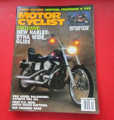 Motor Cyclist Magazine Oct/1992...Exclusive: New Harley Dyna Wide Glide