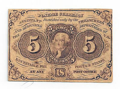 Fr1230 5 Cent 1st Issue Fractional Currency
