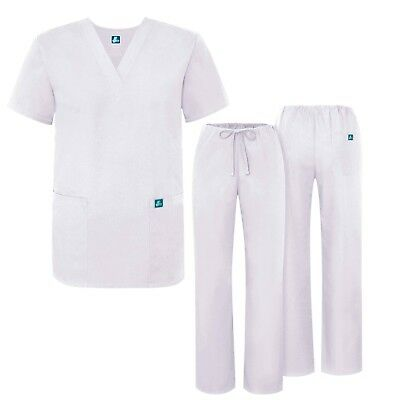 Adar Womens Medical Scrub Sets, Roomy Fit Drawstring Pants And V-Neck Top
