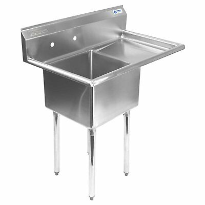 Gridmann 1 Compartment NSF Stainless Steel Commercial Kitchen Prep  Utility Sink
