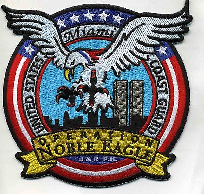 "USCG Coast Guard Patch - Operation Noble Eagle, Miami, FL (5"" x 4.75"") (fire)"