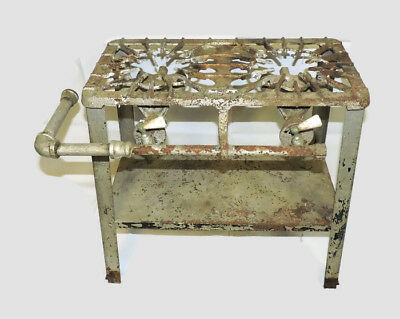 Antique Cast Iron Griswold #320 Two Burner Gas Cooking Camping Stove