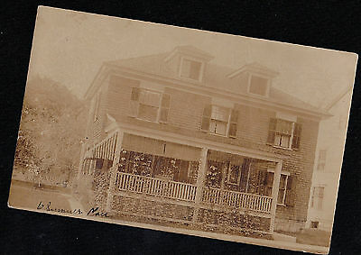 Old Antique Vintage RPPC Photograph Postcard Gorgeous Old Country Home House