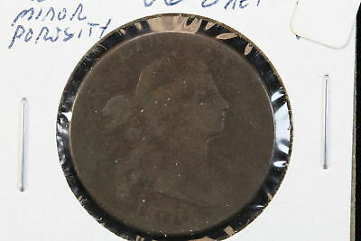 1800 Draped Bust Large Cent Normal Style Minor Porosity VG
