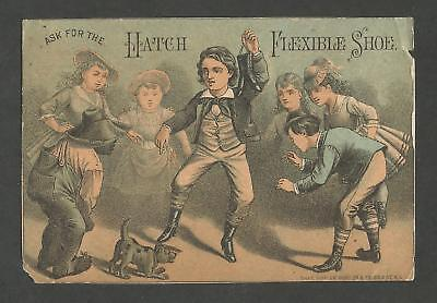 Victorian Trade Card - Hatch Flexible Shoe, Sold by G. W. Parker - Late 1800's