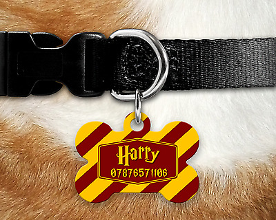 Personalised Pet Tag - ID Tag - Dog Tag - Bone Tag - Harry Potter Theme