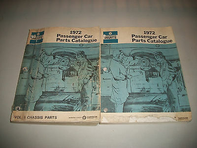 Original 1972 Dodge Chrysler Plymouth Master Parts Catalog Body Chassis
