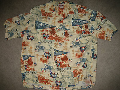 New York Giants Antique Style Hawaiian Shirt Old Time Football Sz: Large