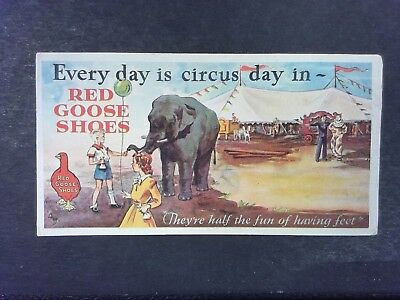 Vintage Red Goose Shoes Advertising Paper Card - 6 1/4 x 3 1/4
