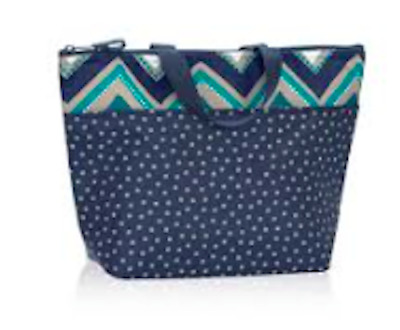 NIP Thirty One 31 Thermal Tote Dottie Chevron no monogram 3000
