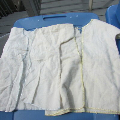 Dy-Dee Baby Embroidered Robes Yellow Blue Trim Large Factory Vintage Set of 2