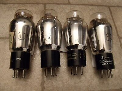 Quad, 2 Matched Pair of Type 46  tubes - NOS