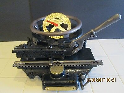 Vintage Stencil Cutting Machine IDEAL #2 Letters & Numbers Excellent condition