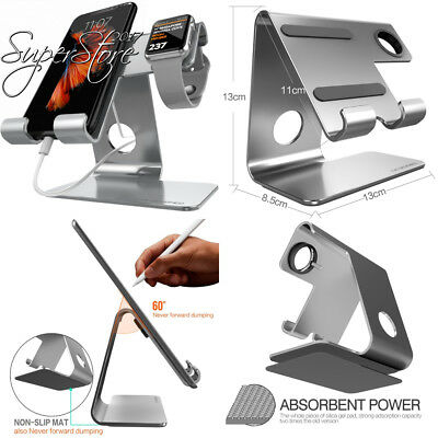 Universal 2 in 1 Cell Phone Tablet Stand,ZVE Aluminium Apple Iwatch Charging...