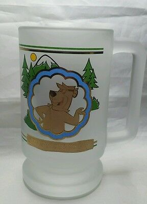 JELLYSTONE  PARK Yogi Bear Frosted Souvenir Beer Mug Pre-Owned NICE!