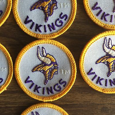 Lot Of 2 Pcs Vintage Nfl Patches Minnesota Vikings