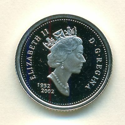 1952 2002 Canada STERLING SILVER Proof 10 Cent Dime Ultra Heavy Cameo