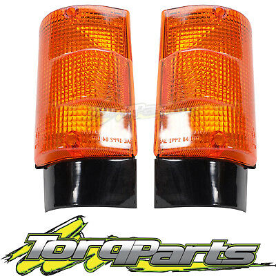 Indicators Pair Suit Fe Canter Mitsubishi 86-95 Flashers Repeaters Lights Lamps