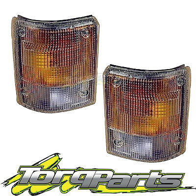 Indicators Pair Suit Wg T Series Mazda 89-98 Flashers Repeaters Lights Lamps