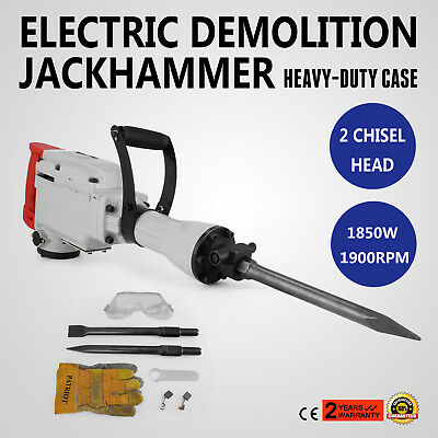 1850W Jack Hammer Demolition Jackhammer Commercial Grade Drill Tool W/ Gloves