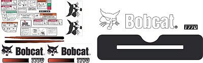 Bobcat T650 V2 Decal Kit The most complete aftermarket kit available
