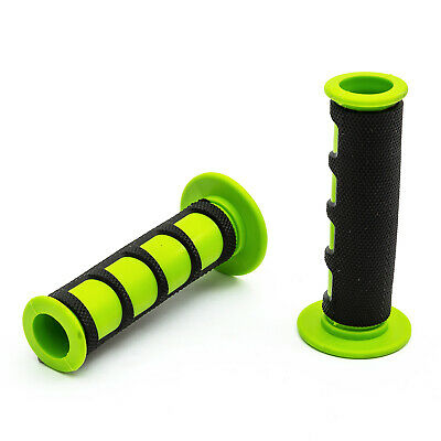 Pitbike Grip Set Green Black Contoured Soft Touch 50cc - 125cc 140cc Motorcycle