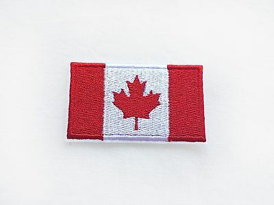 1x  Canadian flag patch CANADA Maple Leaf emblem Iron On Embroidered applique