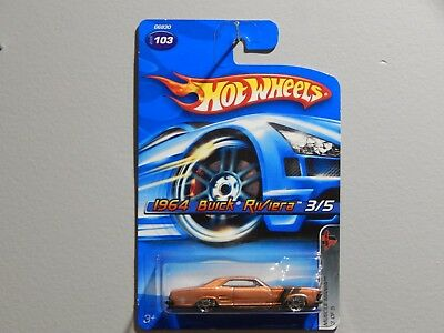 Hot Wheels 1964 Buick Riviera Muscle Mania #G6830 New 2005 Brown 1:64