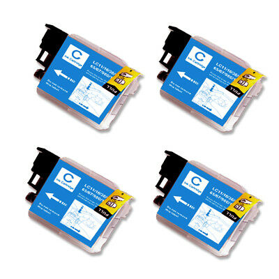 4 CYAN Ink Cartridge for Brother LC61C MFC 290C 295CN 490CW 495CW J265w 270w