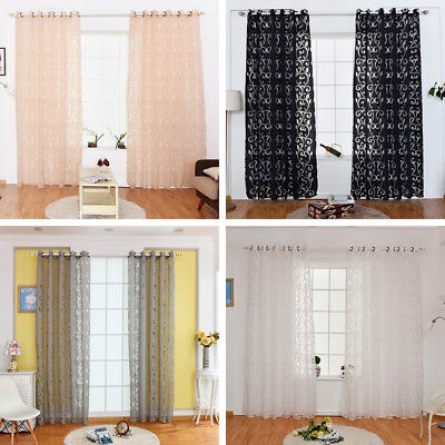 Home Decor Tulle Voile Window Drape Curtain Panel Divider Sheer Scarf Valances