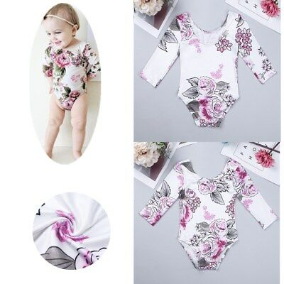Infant Baby Girls Floral Romper Flower Jumpsuit Toddler Bodysuit Outfits Clothes