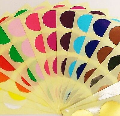 41mm Starbursts - Mixed Pack - Assorted Coloured Code Stickers Sticky Labels