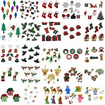 Dress It Up Buttons Embellishments Christmas Xmas Holly Snowmen Festive Craft