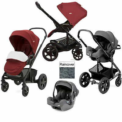 Joie Cranberry Chrome Dlx Pushchair Travel System With I-Gemm Infant Car Seat