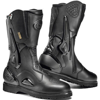 Sidi Armada Gore-Tex Microfibre Leather Motorcycle Waterproof Tour Boots - Black