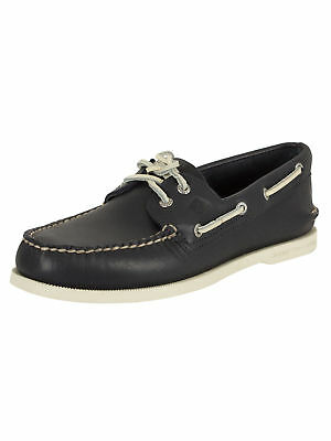 Sperry Top-Sider Men's A/O 2 Eye Slip On Boat Shoes, Blue